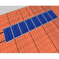 Kiremit Çatı 1X8 2 Kw Montaj Sistemi