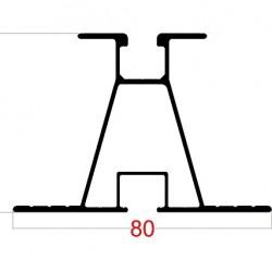 Alüminyum Montaj Rayı 55x80 MM